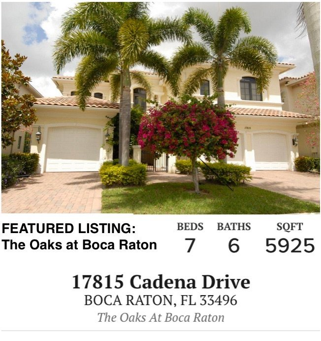 17953 Villa Club Way Boca Raton, FL 33496 - The Oaks at Boca Raton Real Estate Listing